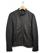 BEAMS Lights(ビームスライツ)の古着「ラムレザーシングルライダースジャケット」|ブラック