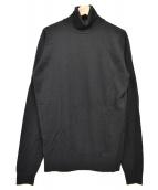 JOHN SMEDLEY(ジョンスメドレー)の古着「ウールタートルネックニット」|ブラック