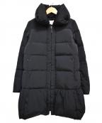 M-premierBLACK(エルプルミエラブラック)の古着「ボリュームカラーダウンコート」 ブラック