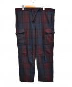 UMIT BENAN(ウミットベナン)の古着「COMFORT PANT チェック イージー カーゴパンツ」|レッド×ネイビー