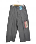 doublet(ダブレット)の古着「18SS デッドストックフラッシャージャガードパンツ」 チャコールグレー