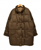 DAKS(ダックス)の古着「[古着]チェック柄中綿コート」 ブラウン