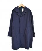 ORCIVAL()の古着「丸襟 ステンカラーコート」 ネイビー