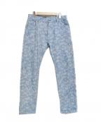 PLEASURES(プレジャーズ)の古着「ペイズリーパンツ」 ブルー