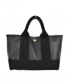 TOPKAPI(トプカピ)の古着「スコッチグレインネオレザーミニトートバッグ」|ブラック