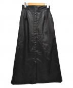 SLY(スライ)の古着「エコレザーロングスカ-ト」|ブラック