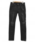 Ksubi(スビ)の古着「ダメージ加工デニムブラックパンツ」 ブラック