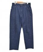 UNUSED()の古着「18SS シルク混ネップデニムパンツ」|インディゴ