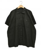 TUKI(ツキ)の古着「ショートスリーブブラウス 半袖シャツ」 ブラック