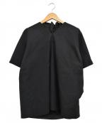 CRAIG GREEN(クレイグ グリーン)の古着「ギャザーバック Vネックカットソー/シャツ」|ブラック