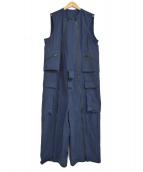 ()の古着「19SS military Jumpsuit ジャンプスーツ」|ネイビー