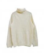 INVERALLAN(インバーアラン)の古着「ロールネック シェットランドウールニット」|ホワイト