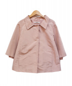 PRADA(プラダ)の古着「ボタンデザイン ハーフスリーブ ジャケット」|ピンク