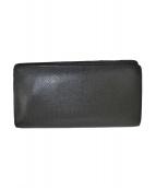 ()の古着「タイガ ポルトフォイユ・ブラザ 二つ折り長財布」 ブラック