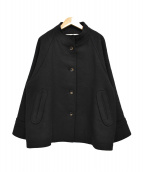 Conges payes(コンジェ ペイエ)の古着「スタンドカラーショートコート」|ブラック