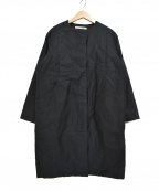 evam eva(エヴァムエヴァ)の古着「ノーカラー 中綿 パディングコート」 ブラック