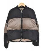 DUNO(デュノ)の古着「ダウンジャケット」|ブラウン×ブラック