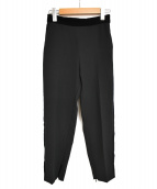 PINKO(ピンコ)の古着「サイドベロアイージーパンツ」|ブラック