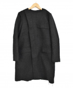 BERARDI(ベラルディ)の古着「ライナー付ノーカラーコート」|ブラック