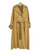 Ameri(アメリ)の古着「コルセットリバーシブルトレンチコート」|ベージュ×グリーン
