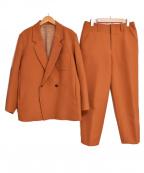 ETHOSENS(エトセンス)の古着「18AW 二重織セットアップ」|ブラウン