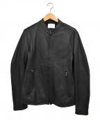 STUDIOUS()の古着「シングルライダースジャケット」|ブラック