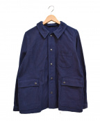 NIGEL CABOURN(ナイジェルケーボン)の古着「裏起毛ワークジャケット」|ネイビー