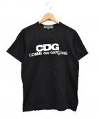 GOOD DESIGN SHOP COMME des GAR(グッドデザインショップコムデギャルソン)の古着「CDG LOGO TEE プリントTシャツ」 ブラック