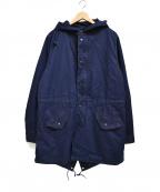 SHIPS(シップス)の古着「インディゴミリタリーフーデッドコート」|ネイビー