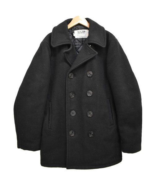Schott(ショット)Schott (ショット) 8ボタン Pコート ブラック サイズ:38の古着・服飾アイテム