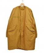 Samansa Mos2(サマンサモスモス)の古着「20AW ノーカラー3wayモッズコート」|キャメル