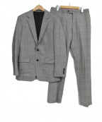 Calvin Klein(カルバンクライン)の古着「チェックセットアップスーツ」|グレー