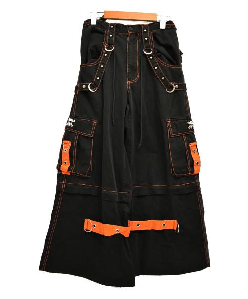 TRIPP()TRIPP (トリップ) ハードコア カーゴパンツ ブラック サイズ:下記参照 パンク スタッズ チェーンの古着・服飾アイテム