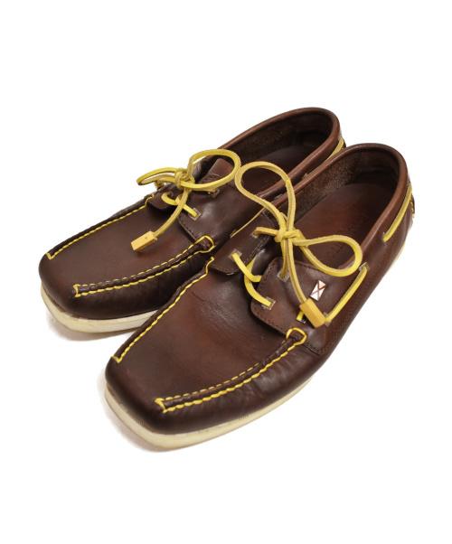LOUIS VUITTON(ルイ ヴィトン)LOUIS VUITTON (ルイヴィトン) デッキシューズ ブラウン サイズ:8 1/2の古着・服飾アイテム