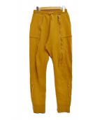UNDERCOVER(アンダーカバー)の古着「17AW ジップスウェットパンツ」|マスタード