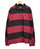 ()の古着「ラガーシャツ」|レッド×ブラック