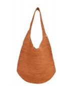 HELEN KAMINSKI(ヘレンカミンスキー)の古着「ラフィアショルダーバッグ」|オレンジ