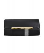 BLUE LABEL CRESTBRIDGE(ブルーレーベルクレストブリッジ)の古着「2つ折り長財布」|ブラック
