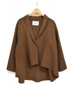 MIDIUMISOLID(ミディウミ ソリッド)の古着「フレアショートコート」|ブラウン