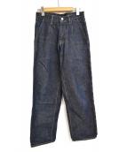 NEON SIGN(ネオンサイン)の古着「MODERATE デニム スラックス パンツ」|インディゴ