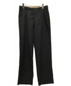 ()の古着「タックパンツ/スラックス」 ブラック
