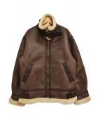 ()の古着「フェイクムートンB-3フライトジャケット」|ブラウン