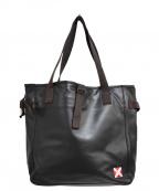 LUGGAGE LABEL(ラゲッジ レーベル)の古着「レーヨンキャンバス×PVC トートバッグ」|グレー