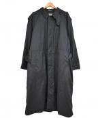 SANYO(サンヨー)の古着「ライナー付ステンカラーコート」|ブラック