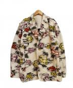 ISSEY MIYAKE MEN(イッセイミヤケメン)の古着「20SS ジャガード刺繍ジャケット」|ベージュ