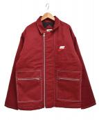 ()の古着「18AW ダブルジップ キルティングワークジャケット」|レッド