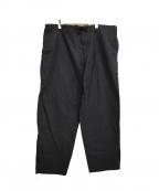 BLACK Scandal Yohji Yamamoto(ブラックスキャンダルヨウジヤマモト)の古着「18AW シーチングヒモパンツ」 ブラック