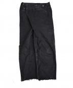 MAISON EUREKA(メゾン エウレカ)の古着「リメイクバギーデニムパンツ」|ブラック