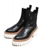 ()の古着「Emilie Boots プラットフォームチェルシーブーツ」|ブラック×ホワイト