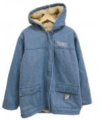 EXAMPLE()の古着「DENIM BOA JACKET ジャケット」 インディゴ